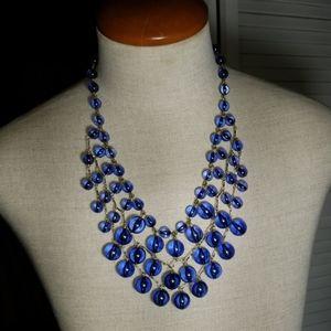 Blue & Gold J.Crew Necklace